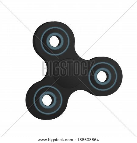 Fidget spinner. Hand spinner in trendy flat style. Stress relieving spinner toy