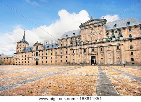 Royal Monastery of San Lorenzo de El Escorial near Madrid Spain