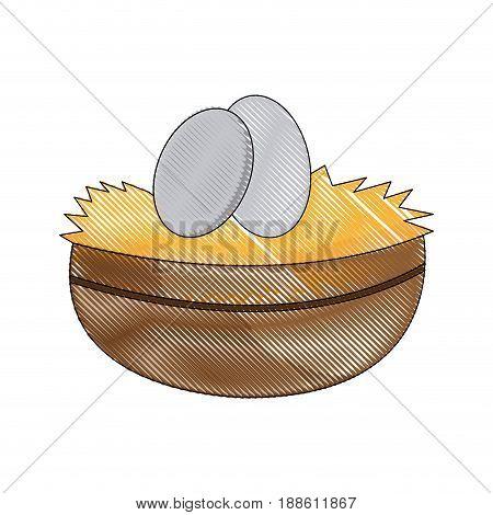 easter bowl egg celebration image vector illustration