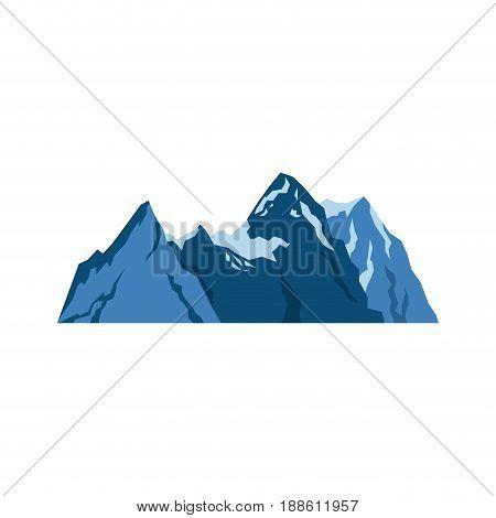 snow mountains peak alpine landscape image vector illustration