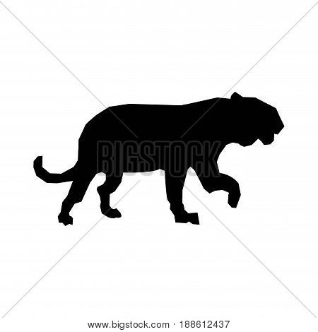 tiger silhouette animal wild dangerous predator image vector illustration