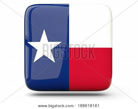 Flag Of Texas, Us State Square Icon