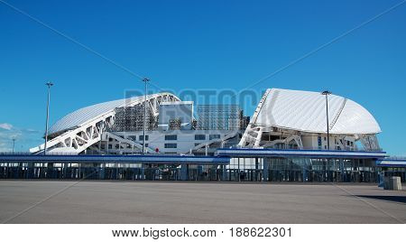 Adler Russia - May 21 2017: view of the Fisht Stadium in the Olympic Park