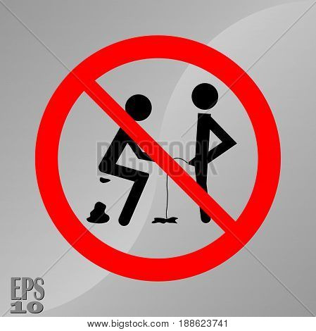 prohibiting sign to and a sign of hygiene cleanliness of toilets fully editable vector image