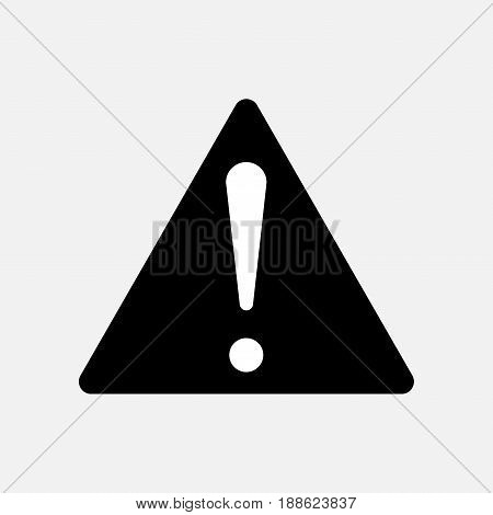 a sign warning a warning icon for the application web sites fully editable vector image