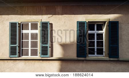 Old Classic Style Windows Of Switzerland
