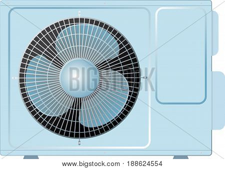 Outdoor unit of home ventilation and air conditioning system