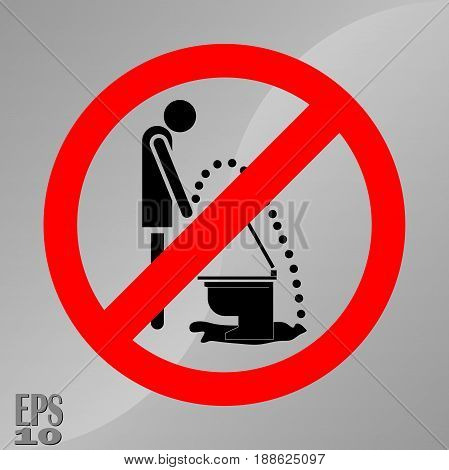 prohibition sign a sign of hygiene cleanliness of toilets fully editable vector image