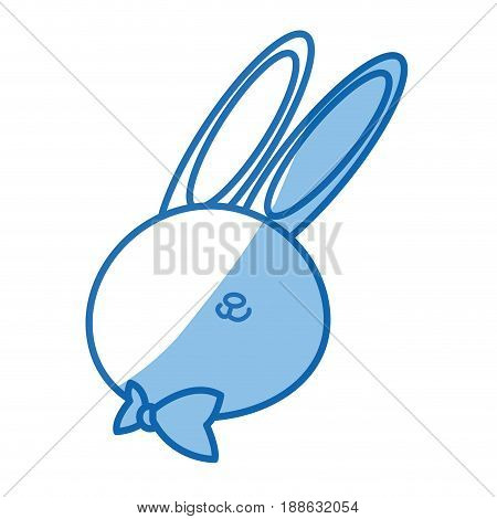 cute cartoon rabbit wildlife animal speed vector illustration