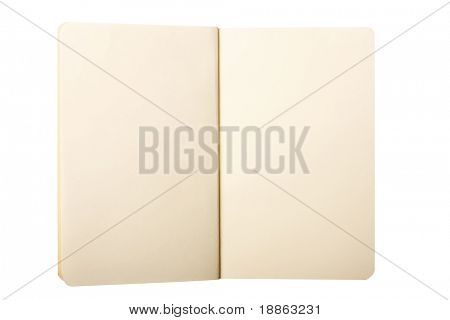 Classic note book isolated on white with clipping path