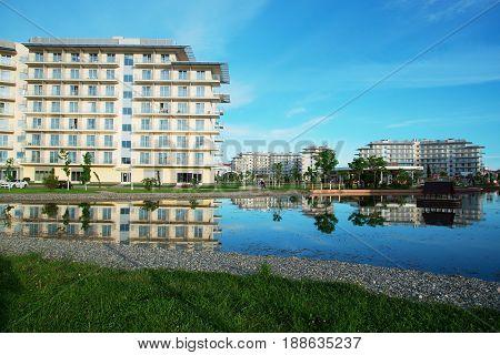 Adler Russia - May 21 2017 Hotel Sochi Park. Adler Krasnodar Region Russia