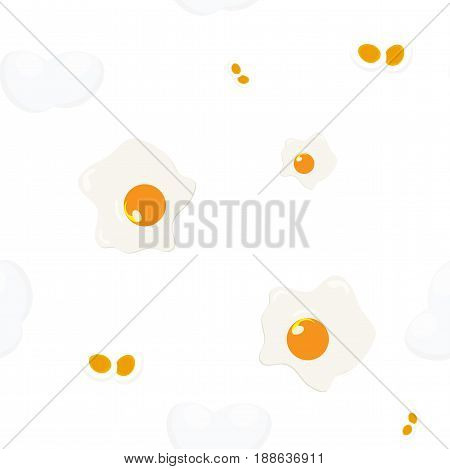 Chicken eggs wrapping paper seamless pattern or packaging print.