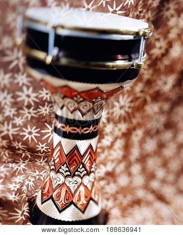 goblet drum or darbuka with selective focus