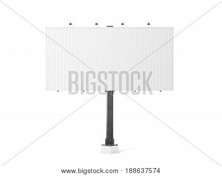 Blank white trivision billboard mockup 3d rendering. Empty tri vision bill board design mock up isolated. Clear rotating prisma sign template. Sroll panels on plain city banner frame of prismavision