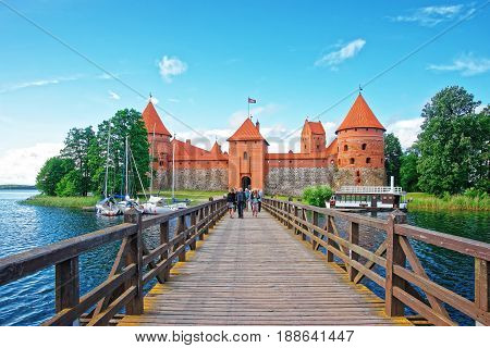 Trakai Island Castle Museum Leading To Trakai Island Castle