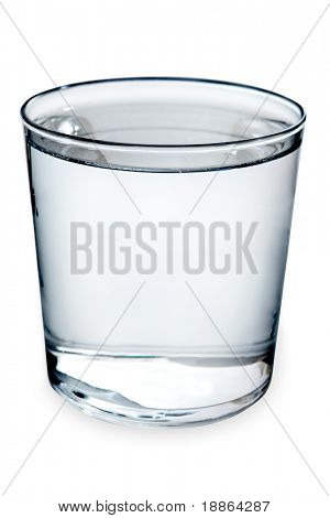 Glass of water isolated on white with clipping path