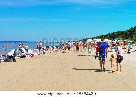 People At Baltic Sea In Jurmala
