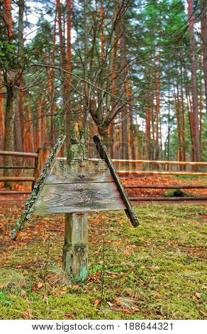 Wooden Sculpture In Ethnographic Open Air Village In Riga
