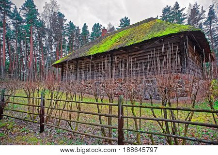 Old Building And Wooden Fence In Ethnographic Village Riga