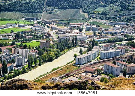 Sion Landscape With Rhone River