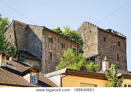 Architecture In Old Town Of Sion Valais Switzerland