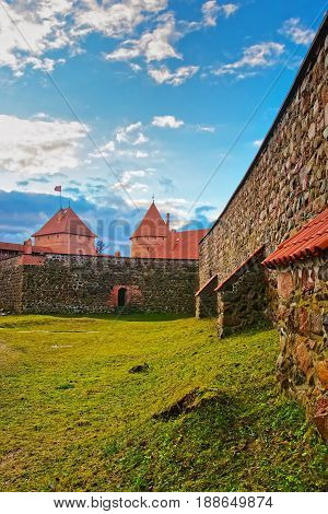 Towers And Defensive Walls Of Trakai Island Castle Museum