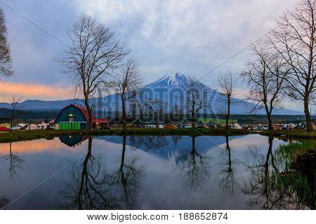 Fumotopara Camping With Mt. Fuji View