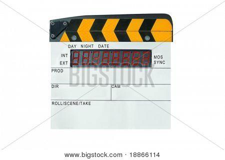 Modern digital slate isolated on white