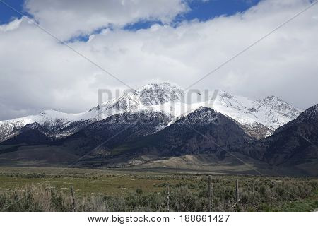 Mt. Borah - At 12,662 ft (3,859 m), is the tallest peak in Idaho. It is located in the Lost River Mountain Range between Challis and Mackay, Idaho.