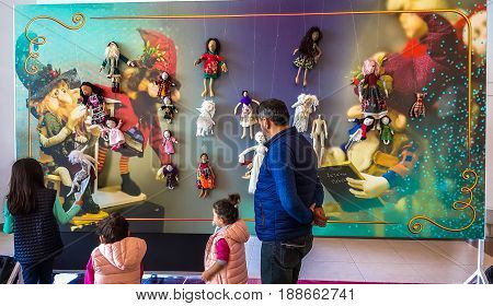 Eskisehir, Turkey - April 08, 2017: People Attending An Exhibition Called