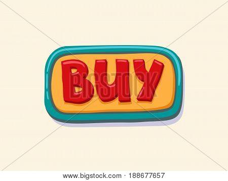 Buy. Hand drawn web button. internet button. vector illustration