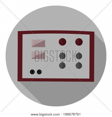 Vector image of laboratory power source on a round background