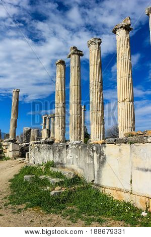Aphrodite Temple Ruins  In Aphrodisias Turkey