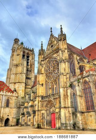 Saint Etienne Cathedral in Sens - France, Yonne