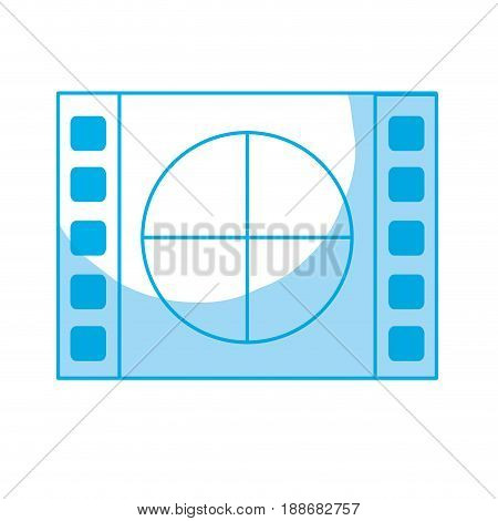 silhouette film countdown to projection of movie, vector illustration