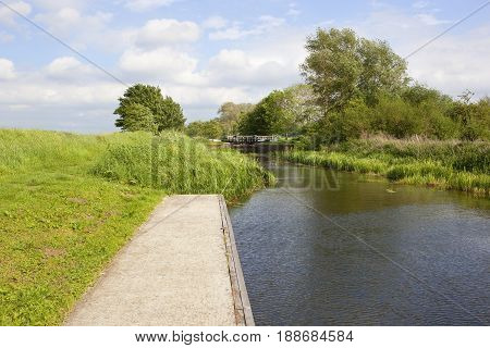 Canal Lock In Summer