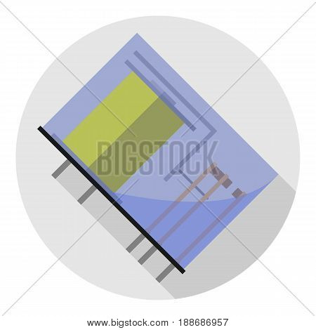 Vector image of the relay in a glass case on a round background