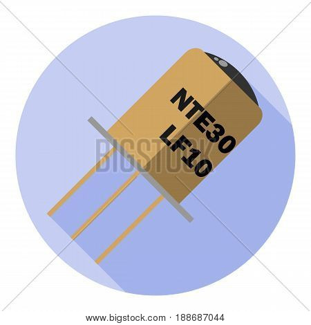 Vector image of a phototransistor on a round background