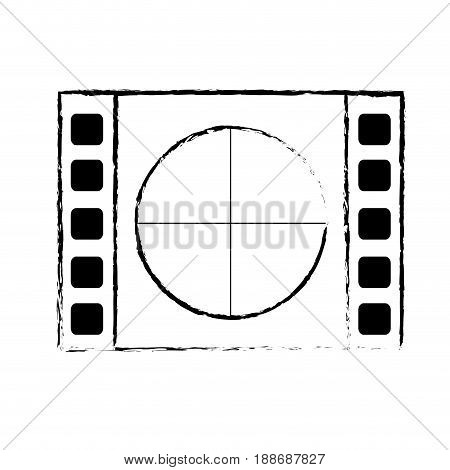 figure film countdown to projection of movie, vector illustration