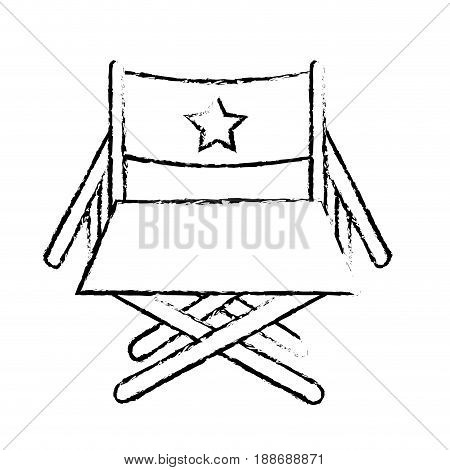 figure director seat to cinematography production, vector illustration