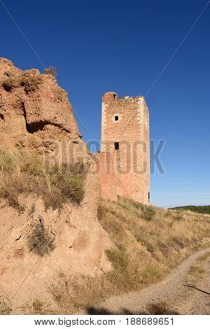 Tower Of San Cristobal,walls,  (s. Xiv ),daroca. Zaragoza Province, Aragón, Spain