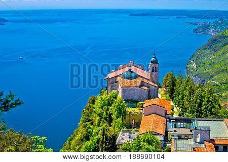 Madonna Di Montecastello Fermitage Above Lago Di Garda View