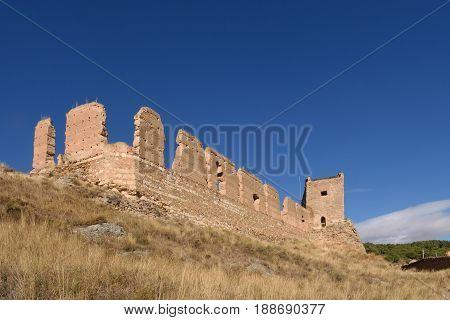 Main Castle Of  Daroca; Zaragoza Province, Aragon; Spain