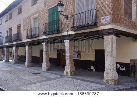 House Of Arcades, Square Of Spain, Daroca, Zaragoza Province,aragon,spain