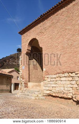 San Juan De La Cuesta Church In Mudejar Style, Daroca. Zaragoza Province, Aragon, Spain