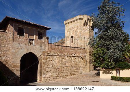 Puerta Alta (high Door) In Medieval Town Of Daroca, Zaragoza Province, Aragon,spain