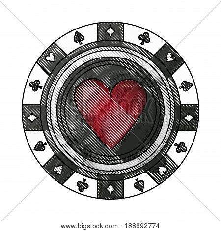 casino chips poker, gambling, money, vector illustration