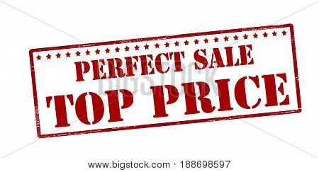 Stamp with text perfect sale top price inside vector illustration
