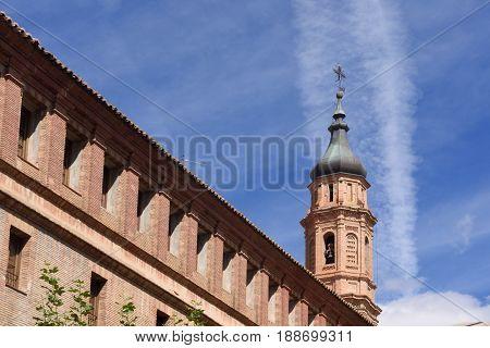 Moorish tower Calatayud Zaragoza province Aragon Spain