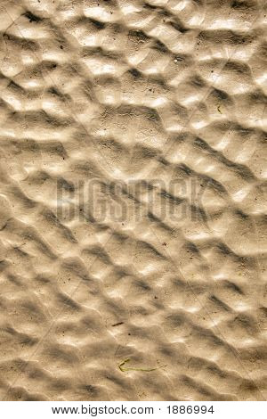 poster of A natural beach sand ripples abstract background.